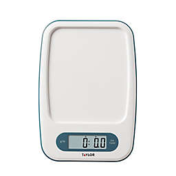 Taylor Digital Kitchen Scale in White/Teal