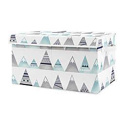 Sweet Jojo Designs Mountains Toy Bin in Aqua/Grey