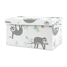Sweet Jojo Designs Sloth Toy Bin in Aqua/Grey