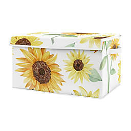 Sweet Jojo Designs Sunflower Toy Bin in Yellow/Green
