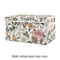 Sweet Jojo Designs Vintage Floral Toy Bin in Pink/Green