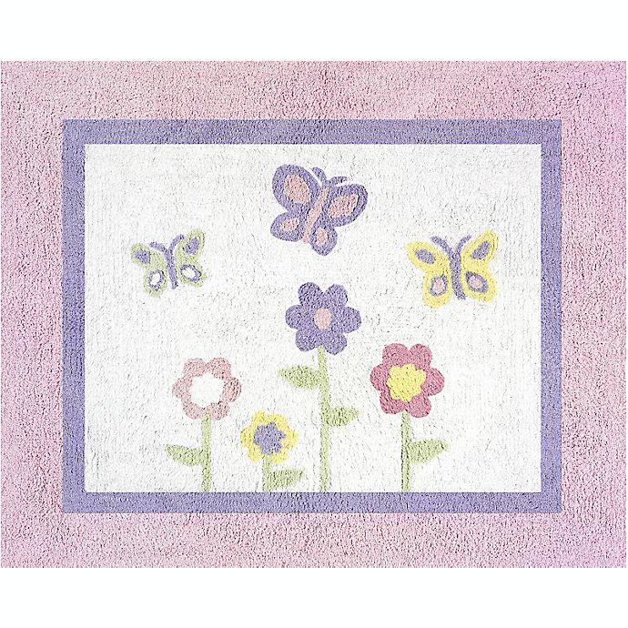 Alternate image 1 for Sweet Jojo Designs® Butterfly Floor Rug in Pink/Purple