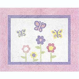 Sweet Jojo Designs® Butterfly Floor Rug in Pink/Purple