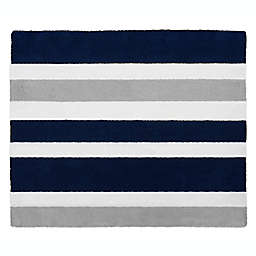 Sweet Jojo Designs Navy and Grey Stripe Accent Rug