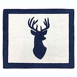 Sweet Jojo Designs® Woodland Deer 30-Inch x 36-Inch Accent Floor Rug in Navy/White