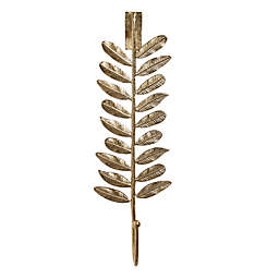 W Home Leaf Wreath Hanger in Metallic Gold