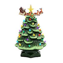 Mr. Christmas® Nostalgic 14-Inch Animated Ceramic Christmas Tree in Green