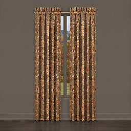 J. Queen New York™ Camellia 2-Pack 84-Inch Rod Pocket Window Panels in Rust