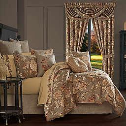 J. Queen New York™ Camellia 4-Piece King Comforter Set in Rust