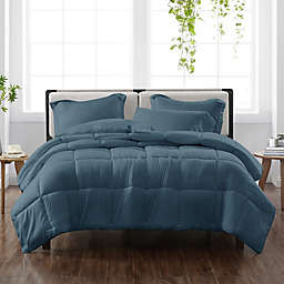 Cannon® Heritage Solid 3-Piece Reversible King Comforter in Dark Blue