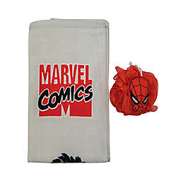 Marvel Comics 2-Piece Bath Towel and Loofah Set