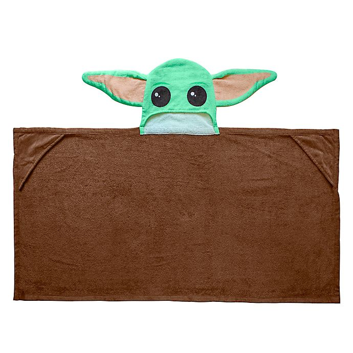 Alternate image 1 for Star Wars™ Baby Yoda Hooded Towel
