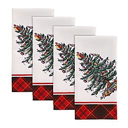 Spode® Christmas Tree Tartan Napkins (Set of 4)