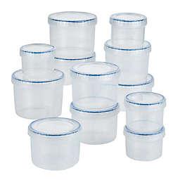 Lock and Lock Easy Essentials 24-Piece Twist Food Storage Container Set