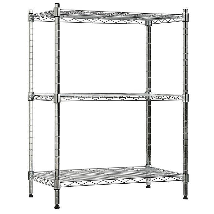 Alternate image 1 for Tiered Steel Wire Storage Shelf in Chrome