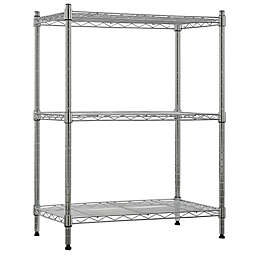Tiered Steel Wire Storage Shelf in Chrome