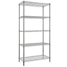 5-Tier Steel Wire Storage Shelf in Chrome