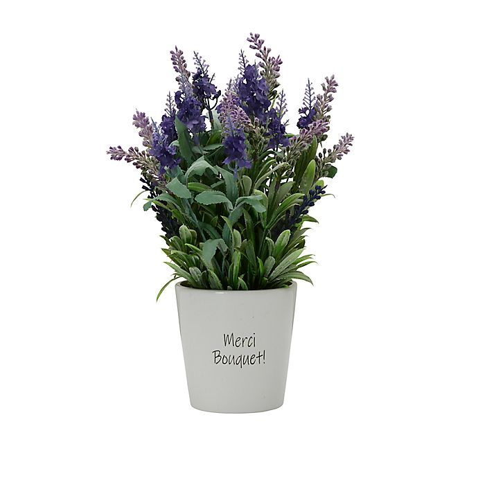 Alternate image 1 for Elements 14-Inch Artificial Lavender Plant in Ceramic Pot