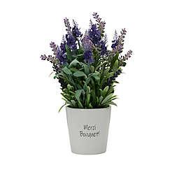 Elements 14-Inch Artificial Lavender Plant in Ceramic Pot