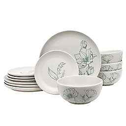 Bee & Willow™ Home Springfield 12-Piece Dinnerware Set in Off White/Mint