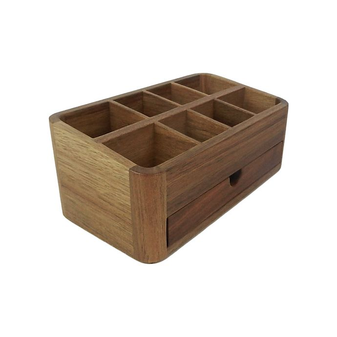 Alternate image 1 for Haven™ Acacia Vanity Organizer with Drawer