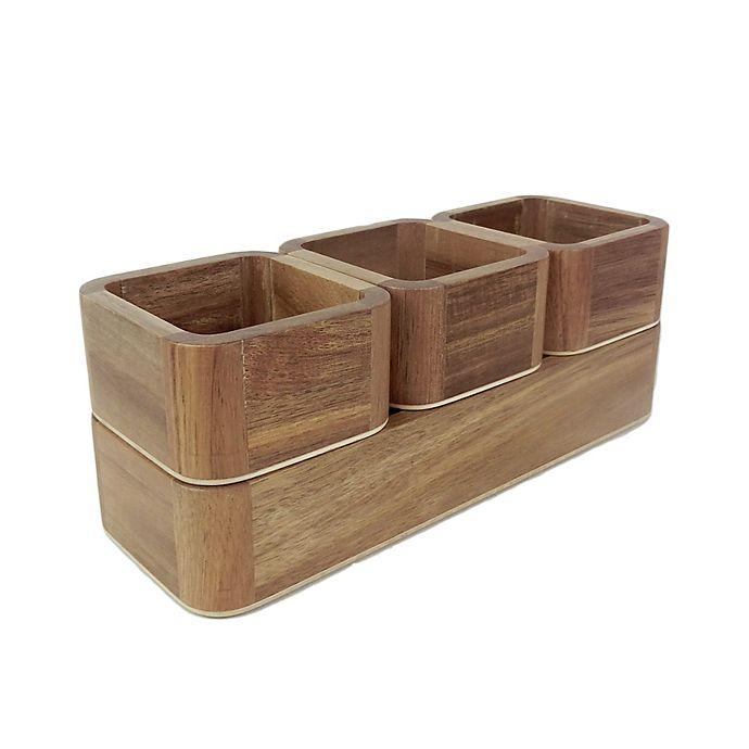 Alternate image 1 for Haven™ Acacia 4-Piece Stacking Organizer Set