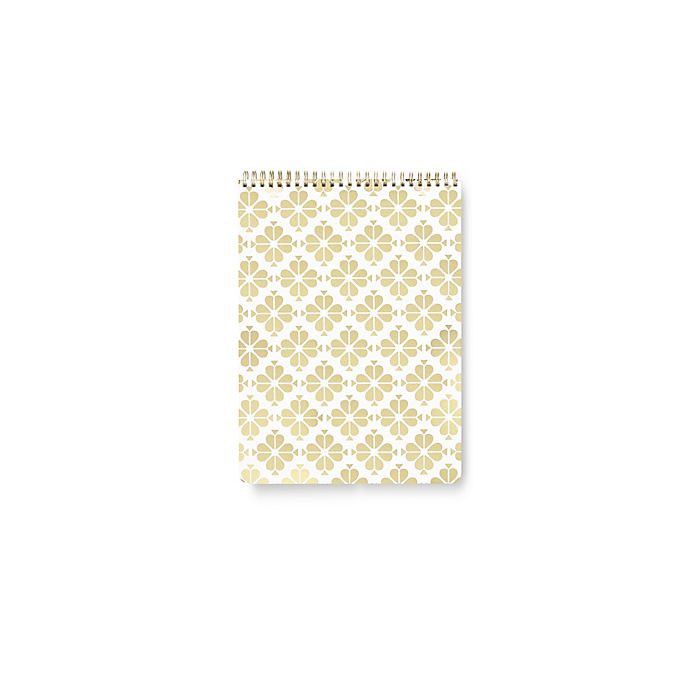 Alternate image 1 for kate spade new york Spade Flower Top Spiral Notebook in Gold