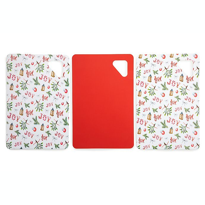 Alternate image 1 for Core Kitchen™ 7.5-Inch x 11.4-Inch Holiday Cutting Mats in Red (Set of 3)