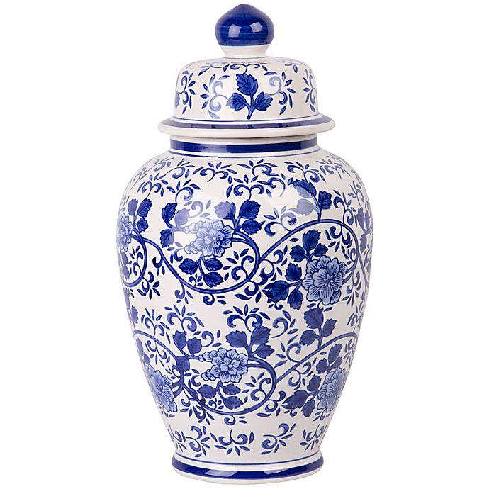 Alternate image 1 for W Home Large Ginger Jar in Blue/White