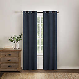 Wamsutta® Collective Asher Chambray 63-Inch Grommet Blackout Window Curtain Panel in Navy
