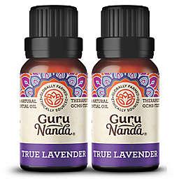 Guru Nanda® 2-Pack 15mL True Lavender Essential Oil