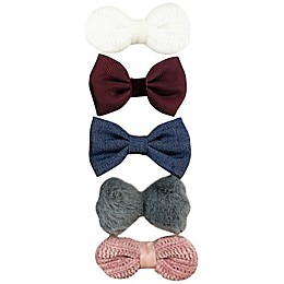 Tiny Treasures™ 5-Pack Mixed Novelty Bow Hair Clips