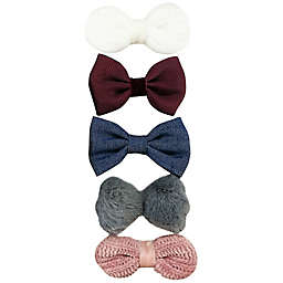 Tiny Treasures™ 5-Pack Mixed Novelty Bow Hair Clips