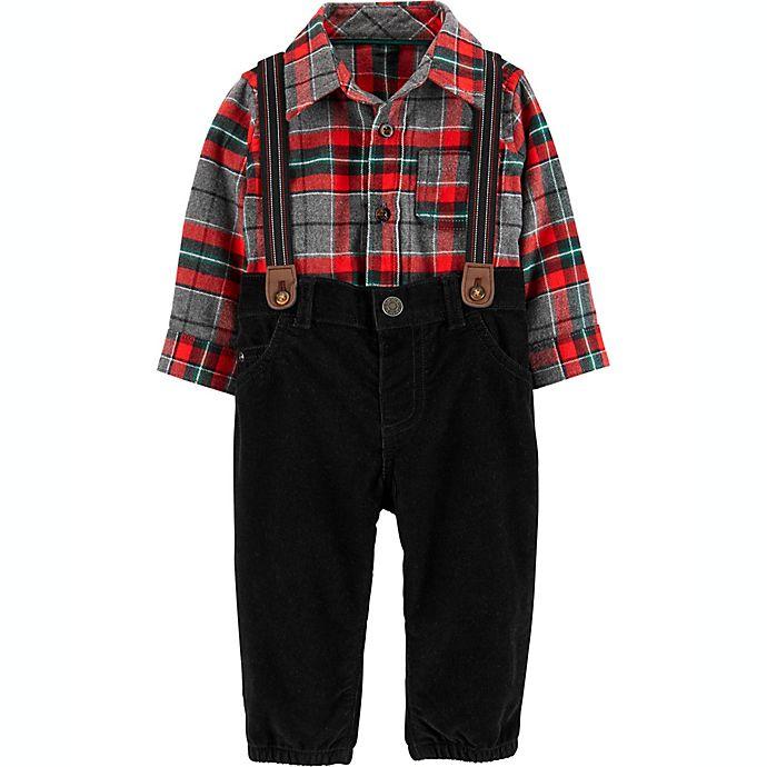 Alternate image 1 for carter's® 3-Piece Flannel Dress Me Up Set