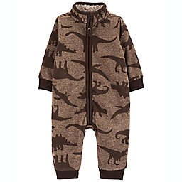carter's® Size 3M Dinosaur Coverall in Brown