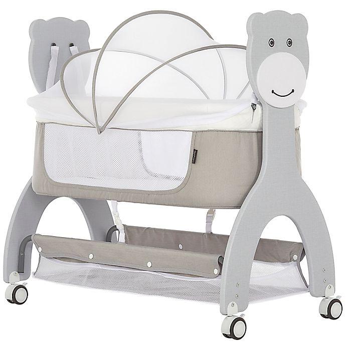 Alternate image 1 for Dream On Me Cub Portable Bassinet Rocking Cradle in Grey