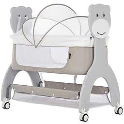 Dream On Me Cub Portable Bassinet Rocking Cradle in Grey