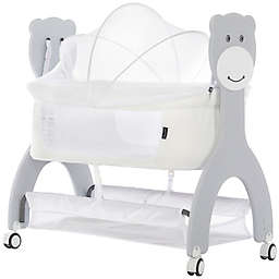 Dream On Me Cub Portable Bassinet Rocking Cradle in White