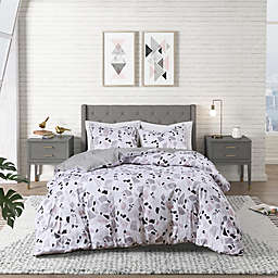 Terrazzo 3-Piece Duvet Cover Set in Blush/Grey