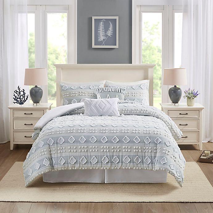 Alternate image 1 for Harbor House Brice Cotton Jacquard 5-Piece Duvet Cover Set