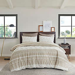 INK+IVY Mila 3-Piece Reversible King/California King Duvet Cover in Taupe