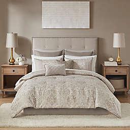 Madison Park Emilia 12-Piece Comforter Set in Khaki