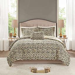 Madison Park® Zuri Faux Fur 4-Piece Full/Queen Comforter Set in Cheetah