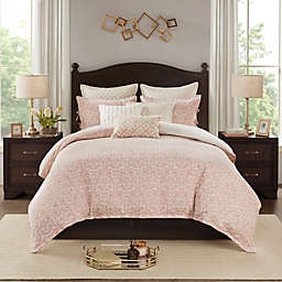 Madison Park Signature Haven Chenille Jacquard 8-Piece Comforter Set in Blush