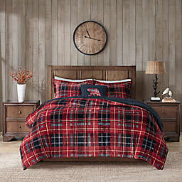 Woolrich® Alton Plush to Sherpa 4-Piece King Comforter Set in Red Plaid