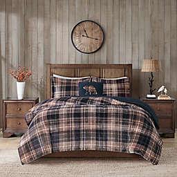 Woolrich® Alton Plush to Sherpa 3-Piece Twin Comforter Set in Tan Plaid