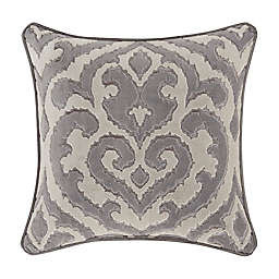 J. Queen New York™ Belvedere Square Throw Pillow in Silver