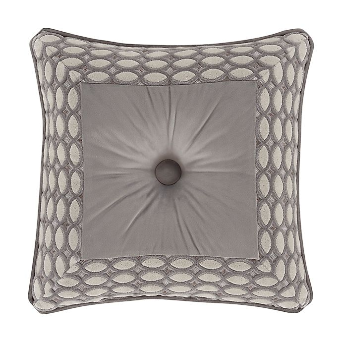 Alternate image 1 for J. Queen New York™ Belvedere Embellished Square Throw Pillow in Silver