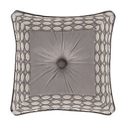 J. Queen New York™ Belvedere Embellished Square Throw Pillow in Silver