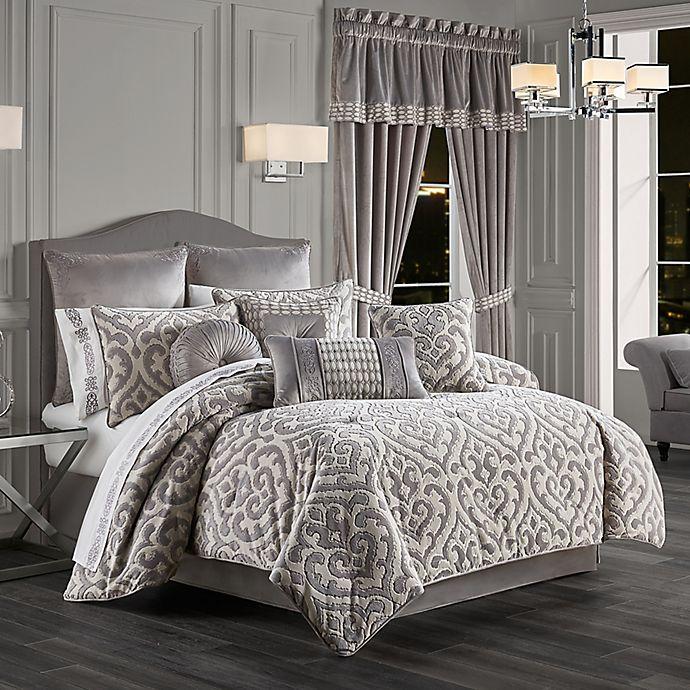 Alternate image 1 for J. Queen New York™ Belvedere 4-Piece Comforter Set in Silver